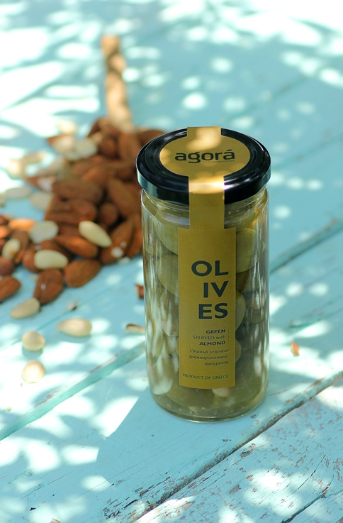 Green stuffed with almond - Agora Almond Olie
